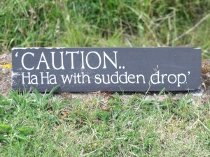 houghton hall  west front  caution  ha ha with sudden drop  sign 300x225 And So What Is Up With Real Estate These Days?