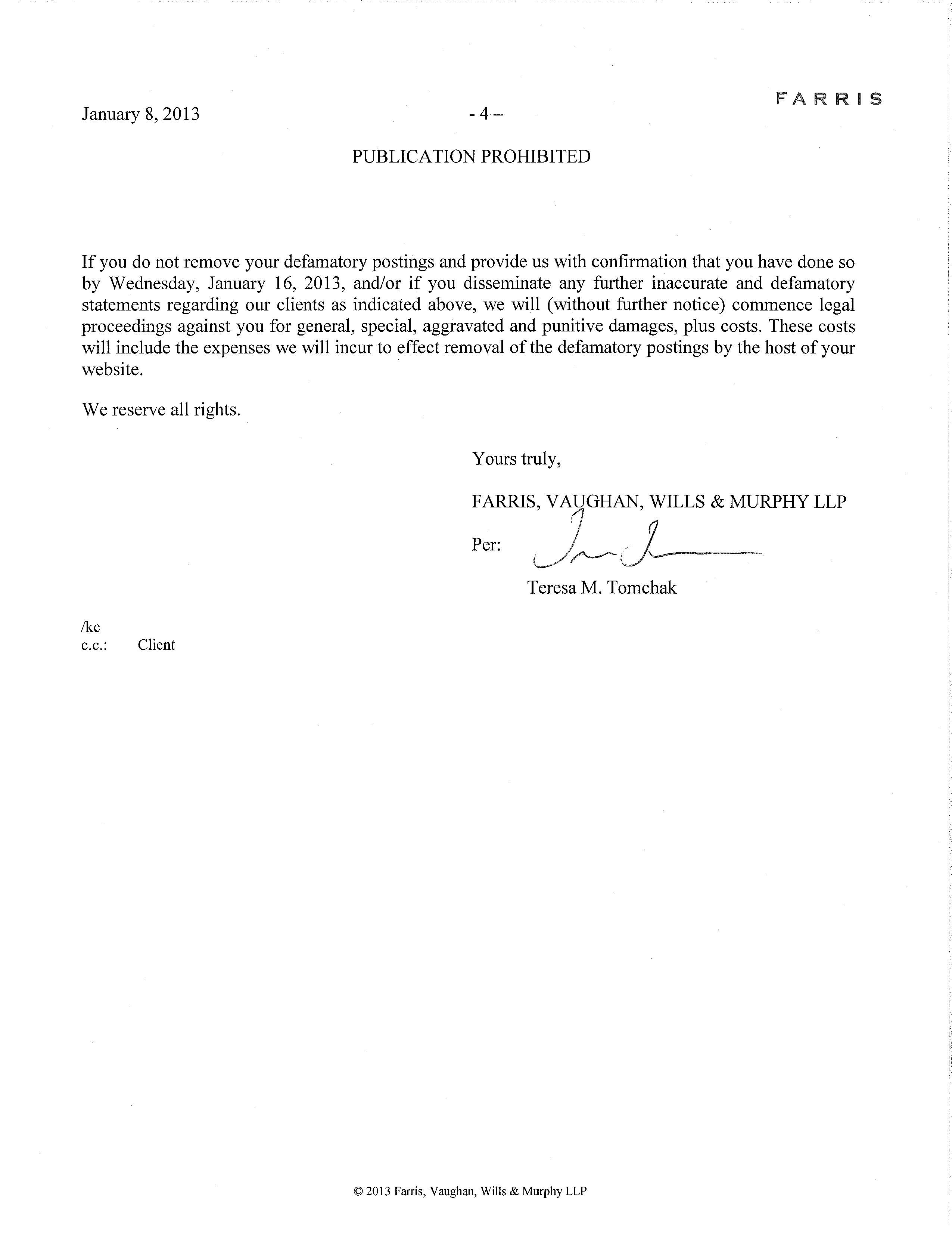 First Lawyer Letter Page4 Property Rental Agency Property